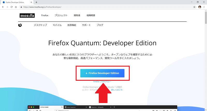 開発者向け『Developer Edition』の場合