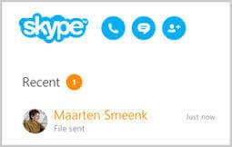 「Skype」ファイル送信方法