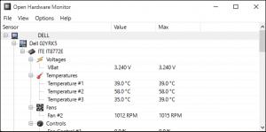 Open Hardware Monitor,オープン ハードウェア モニター,モニタリング