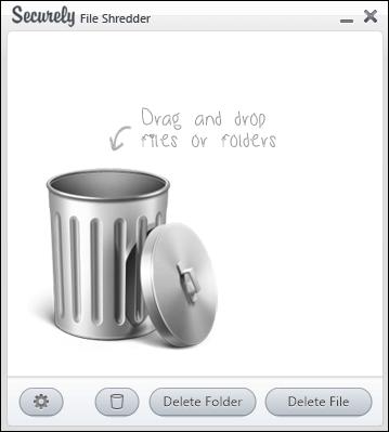 簡単操作のファイル削除ツール「Securely File Shredder」
