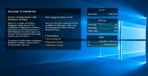 Rainmeter ソフト画面