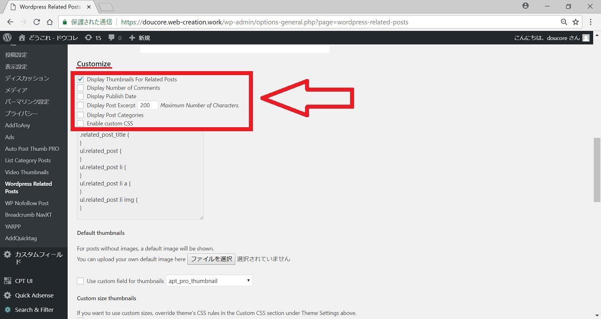 WordPress Related Posts カスタマイズ