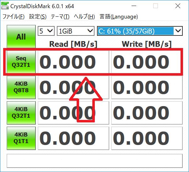 CrystalDiskMark シーケンシャル