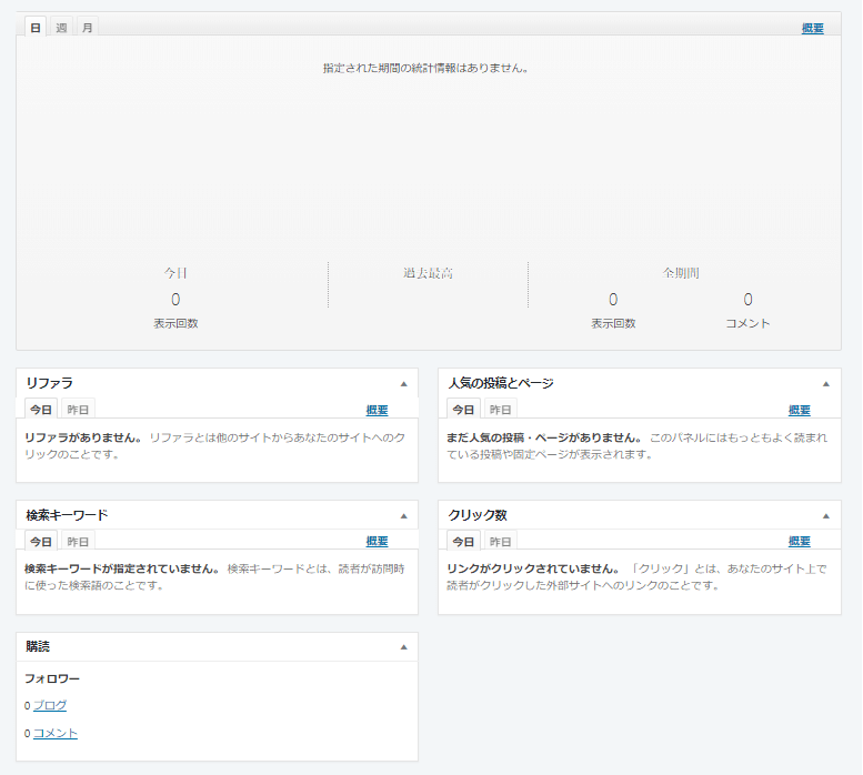 サイト統計情報:機能内容