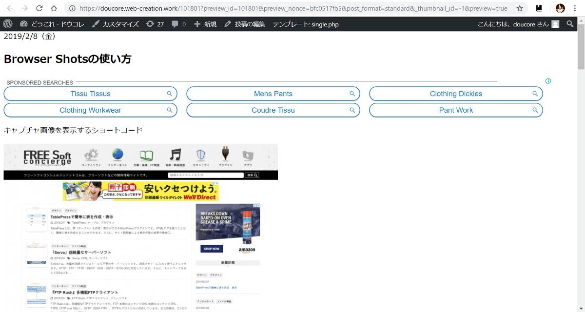 Browser Shots,キャプチャ 画像,プラグイン
