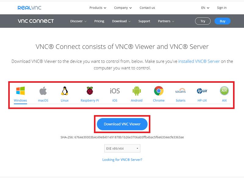VNC Viewerのダウンロード